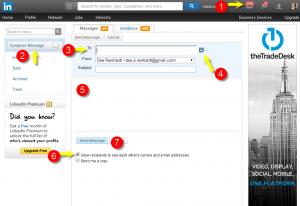 LinkedIn Send Direct Messages
