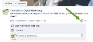 Facebook Update Options