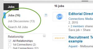 LinkedIn job discussion post