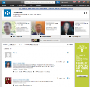 LinkedIn connections from your profile